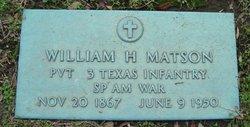 Pvt William H Matson
