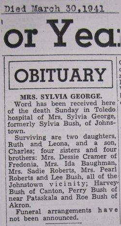 Sylvia May <i>Bush</i> George