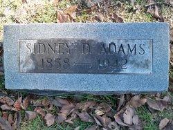 Sidney D Adams