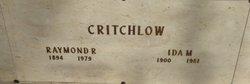 Ida M <i>Gregg</i> Critchlow