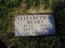 Elizabeth M <i>Robbins</i> Bear