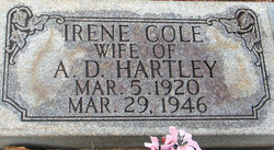 Irene <i>Cole</i> Hartley