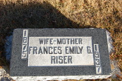 Frances Emily <i>Godwin</i> Riser