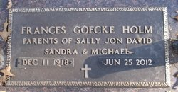 Frances Irene <i>Goecke</i> Holm