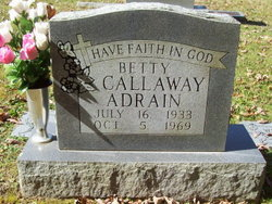 Betty Jewell <i>Callaway</i> Adrian