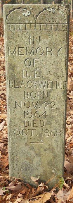 D. E. Blackwelder