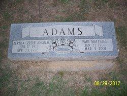 Bertha Ozelle <i>Andrew</i> Adams