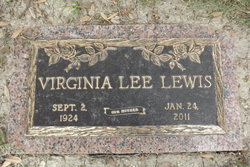Virginia Lee Ginny <i>McDonald</i> Lewis