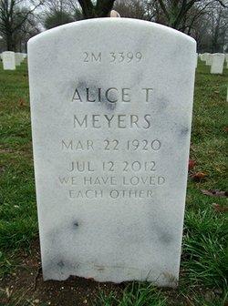 Alice T Meyers