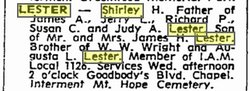 Shirley H Lester
