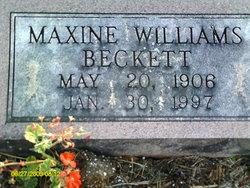 Maxine Williams <i>Birkhead</i> Beckett