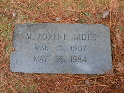 M Lorene <i>Elliott</i> Sides