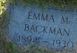 Emma Mathilda <i>Oberg</i> Backman