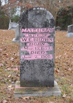 Martha Ann Mattie <i>Cameron</i> Brown