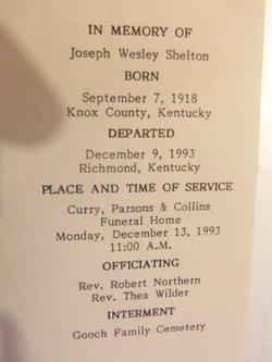 Joseph Wesley wes Shelton