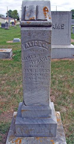Alice J <i>Canfield</i> Ayrault