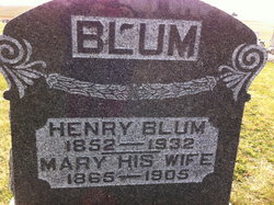 Mary Wife Of Henry Blum