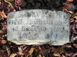Anna Maria <i>Alderman</i> Wills