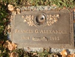Frances G Alexander
