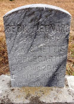 Cecil Leonard Applegarth