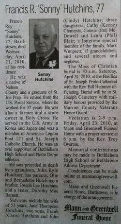 Francis Roy Sonny Hutchins
