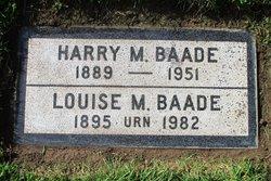 Harry M Baade