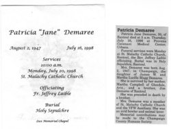 Patricia Jane Demaree