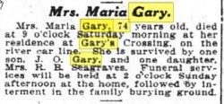 Febee Mariah <i>Wood</i> Gary