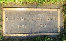 Miriam Elizabeth <i>Ritchey</i> Maupin