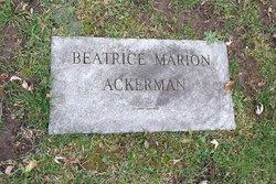 Beatrice H. <i>Marion</i> Ackerman