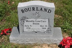 Maudie Lou Carr-Steen Bourland