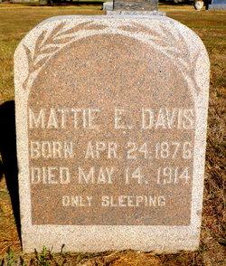 Martha E Mattie <i>Stegner</i> Davis