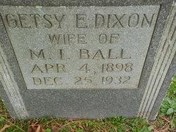 Getsy E <i>Dixon</i> Ball