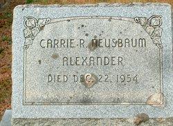 Carrie Rebecca <i>Neusbaum</i> Alexander