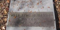 Willie Lewis Henderson