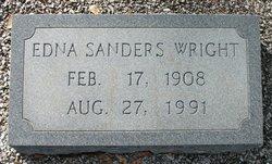 Edna <i>Sanders</i> Wright