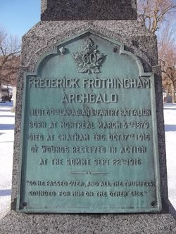 Lieut Frederick Frothingham Archbald