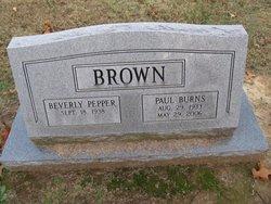 Rev Paul Burns Brown