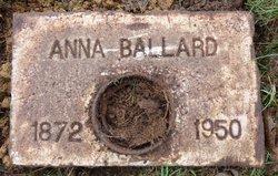 Anna Sarah Annie <i>Milam</i> Ballard