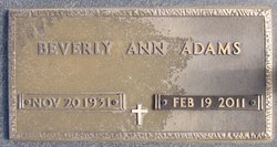 Beverly Ann <i>Adams</i> Adams