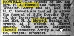 Dorothy M Howell