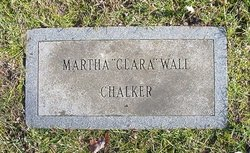 Martha Jane Clara <i>Wall</i> Chalker