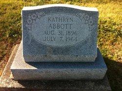 Kathryn W <i>Reinemer</i> Abbott