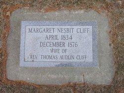 Margaret <i>Nesbit</i> Cliff