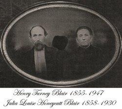 Julia Louise <i>Honeycutt</i> Blair