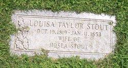 Louisa <i>Taylor</i> Stout