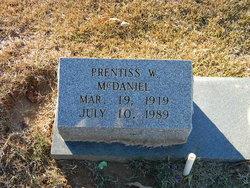 Prentiss W McDaniel