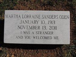 Martha Lorraine <i>Sanders</i> Oden