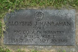 PFC Aloysius James Hanrahan