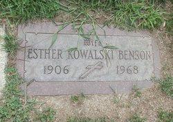 Esther <i>Kowalski</i> Benson